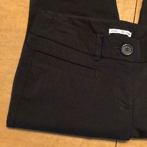 Black DALIA COLLECTION Slim Ankle Pants Size 6